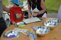 Pískování dětských obrázků v akci