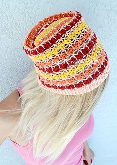 Crochet Summer Beanie Free Pattern
