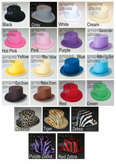 5 Mini Felt Top Hats for DIY Crafting, Party Favors, Photographer Props, Tea Parties, Costumes, Holidays, Birthdays, Everyday Sassy Wear