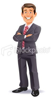 Confident Businessman Royalty Free Stock Vector Art Illustration