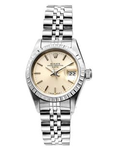 Women's Rolex Oyster Perpetual Date Just Stainless Steel Watch by Estate Watches on Gilt.com