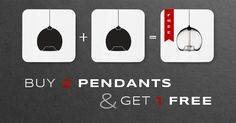 Buy 2 Pendants, Get 1 FREE ends at midnight! Shop online now before you miss out! http://tinyurl.com/7crc2b3