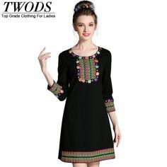 L- 5XL Ethnic Style Appliques Autumn Dress High Quality Slim Cut Short Mini Vestidos Black WOW http://www.artifashion.net/product/l-5xl-ethnic-style-appliques-autumn-dress-high-quality-slim-cut-short-mini-vestidos-black/ #shop #beauty #Woman's fashion #Products