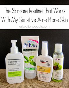 The Skincare Routine That Works With My Sensitive Acne Prone Skin {And how I keep breakouts at bay}