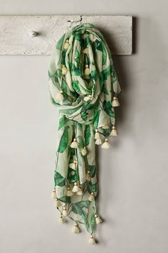 Palm Tassel Scarf | anthropologie