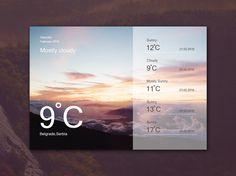 Weather Widget Ui Design preview