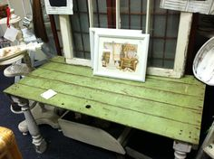 Vintage playpen & rail table