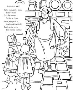 Mary Had A Little Lamb Color Words Sheet See More Pat Cake Nursery Rhyme