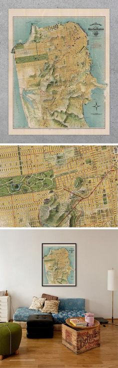 56 Best Historic Maps | Vintage Topographic Maps of US States, Parks ...