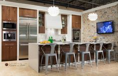 Have to live in OKC to understand the inspiration here...Go Thunder Hahn Appliance Display Kitchens on