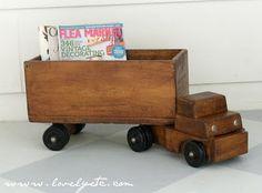 wooden truck for future grandson