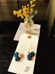 yohakukoujou rev crochet earrings
