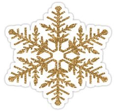 Gold Faux Glitter Snowflake sticker