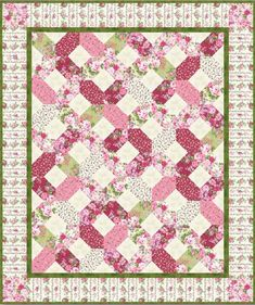 Free quilt pattern - Rose Cottage Quilt Pattern