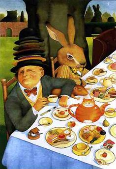 Alice in Wonderland illustration by Anthony Browne, 1988