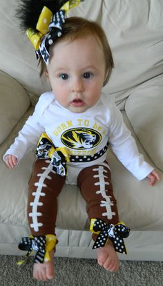 Custom body suit/leg warmers/bow for any NFL or NCAA team. Red and black for UGA?? Cute!!