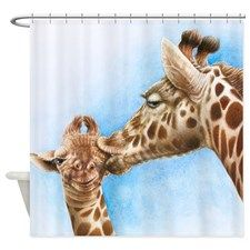 Delicieux Find Giraffe Shower Curtains To Dress Up Your Bathroom.