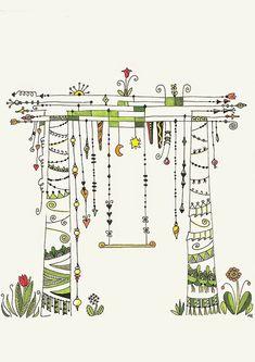 Heilzeichnen: Zendpirations Dangle Designs