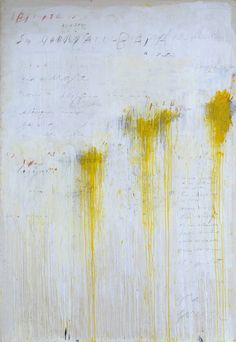 Cy Twombly - Quattro Stagioni: Estate, 1993-1995, acrylic paint and graphite on canvas