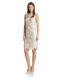 aabccd1569c Adrianna Papell Women s Illusion Neckline Lace Dress