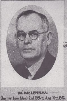 W. McLennan. Chairman from March 2nd 1938 to June 10th 1943 at the Toowoomba Permanent Building Society.