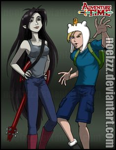 Marcy and Finn by noelzzz on DeviantArt Finn And Marceline, Speed Paint, Adventure Time, Deviantart, Anime, Fictional Characters, Finn The Human, Cartoon Movies, Anime Music
