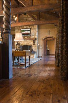Love the hammered hickory floors...Villagio Madera Character Flooring hickory planks