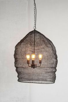 Rustic mesh lamp #Lighting #LightBulb #Chandelier