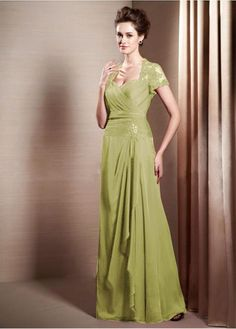 Stunning Tulle & Chiffon Sweetheart Neckline Floor-length A-line Mother Of The Bride Dress