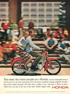 1965 Honda Scooter print ad vintage decor Plaid skirt by Vividiom, $9.00