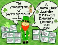 Drama! And St. Patrick's Day fun! It brings out the risk-taking, creativity in all kids and everyone has so much fun! These printable cards are an incredibly fun speaking and listening activity, just one of my drama circle activities that I use to practice the trans-disciplinary skills of cooperation, social, communication and thinking to name a few. One card begins the round and each child has to act out the instructions on their card, following on from the previous card.