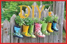 DIY Rubber Boots Planter