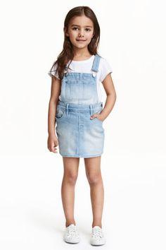 55,90 Spódnica na szelkach z denimu | H&M