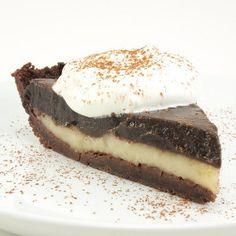 Irresistible Black and White Cream Pie | TheBestDessertRecipes.com