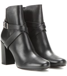 Saint Laurent Babies 90 leather ankle boots Nero