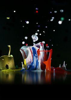 """Saatchi Online Artist Naoko Tosa; Photography, """"Sound of IKEBANA: Jumping Color"""" #art"""