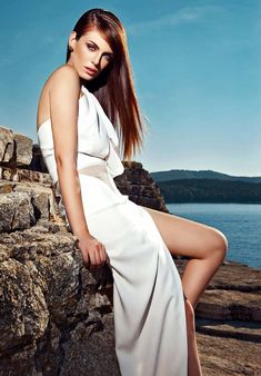 Başak Parlak Turkish Beauty, Celebs, Celebrities, Actors & Actresses, White Dress, Culture, Formal Dresses, Hot, People