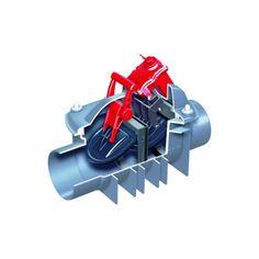 Eine zweifache Rückstausicherung bietet dieser Rückstauautomat. Die Anlage kann in freiliegende Rohrleitungen für fäkalienhaltiges (Schwarzwasser) und fäkalienfreies (Grauwasser) Abwasser eingebaut werden und ist überflutungssicher .