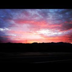 Beautiful sunset in Arizona