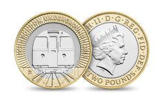 £2 coin by barberosgerby for 150th anniversary of the london underground