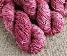 Strawberries - Hand Dyed Tweed Yarn