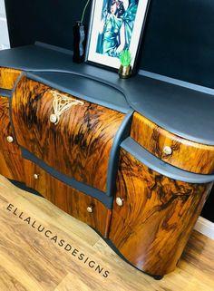 Refurbished Furniture, Upcycled Furniture, Furniture Makeover, Painted Furniture, Recycling Furniture, Art Deco Furniture, Diy Furniture, Annie Sloan Furniture, Home Bar Rooms