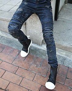 K-POP Men's Fashion Style Store [TOMSYTLE]  Damage Skinny peokal / Size : S,M,L / Price : 75.01 USD #mensfashion #Kpop #boy #fashion #unique #TOMSTYLE #OOTD #pants #bottom #jeans #skinny #skinnyjeans #dailypants #dailylook #dailyfashion #sale