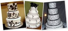 Resultado de imagen para tortas de novia  elegantes de todo el mundo White Cakes, Happy Day, Wedding Cakes, Black And White, Pretty, Desserts, Color, Food Cakes, Black White Weddings