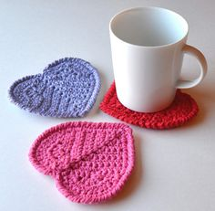 Valentine's Day Heart Coasters Set of 4 Gift Wrapped por Xasper8ing