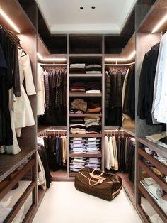 Small walk in closet More
