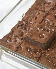 Almond Flour Brownies:  •3/4 c. almond flour   •1/4 tsp salt   •2 Tbsp unsweetened cocoa powder   •1/2 tsp baking powder   •3/4 c. sugar   •3 large eggs   •1 tsp vanilla   •1 tsp instant coffee granules   •1/2 c. butter   •7oz semisweet or bittersweet baking chocolate, OR 3/4 c. chocolate chips