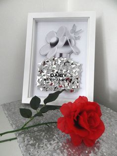 Marc Jacobs Daisy Perfume picture silver or dusky box framed, bathroom,living room,conservat Butterfly Nursery, Butterfly Kids, Girls Wall Stickers, Nursery Wall Stickers, Marc Jacobs Daisy Perfume, 3d Box Frames, Glitter Wall Art, Chanel Wallpapers, Glitter Projects