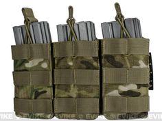 Phantom MOLLE Pouches - Tactical Open Top Triple AR / M4 / M16 Mag Pouch - Multicam
