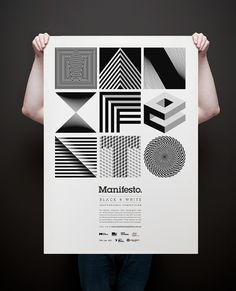 Manifesto identity | Designer: Josip Kelava | Manifesto is a black and white photographic competition for university students studying Photography in Melbourne